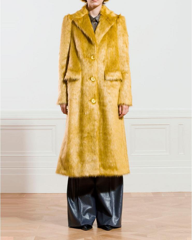 Kathy Coat in Mustard Yellow