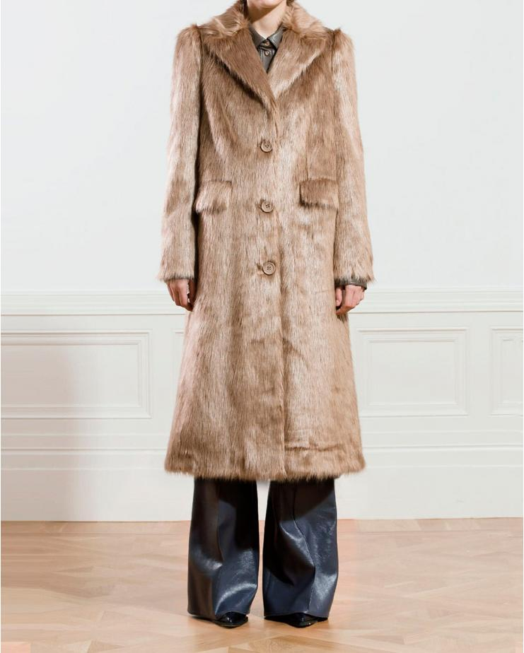 Kathy Coat in Taupe