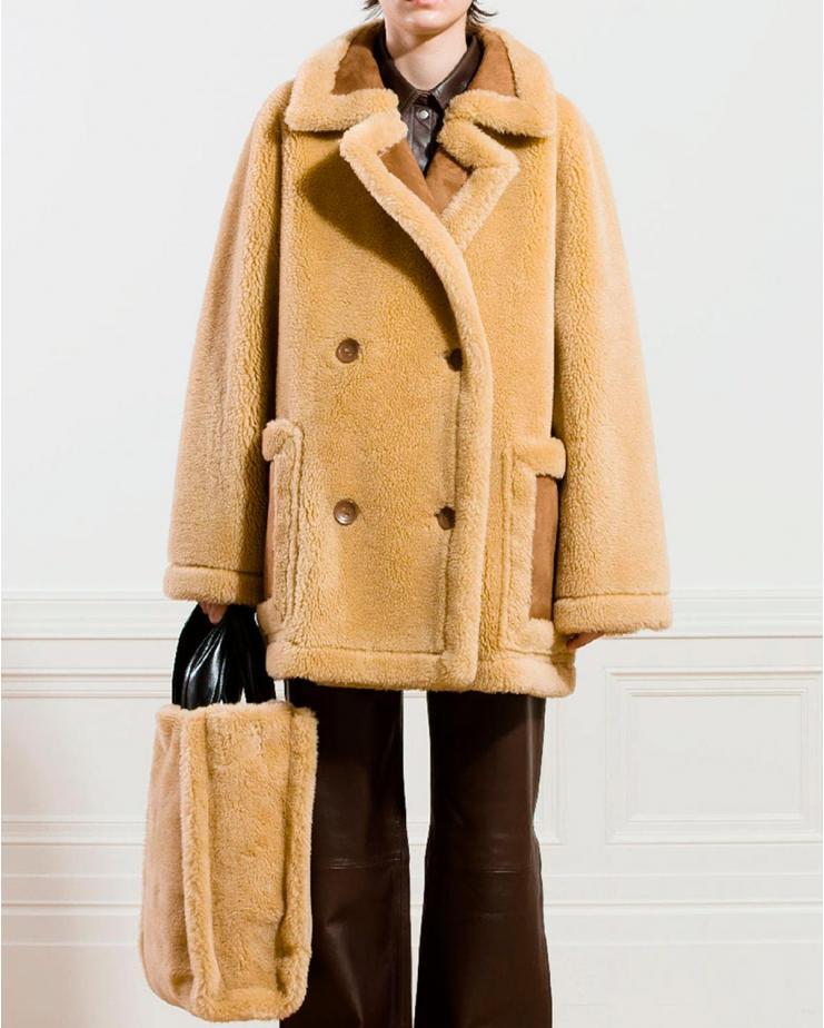 Nayeli Shearling Jacket in...