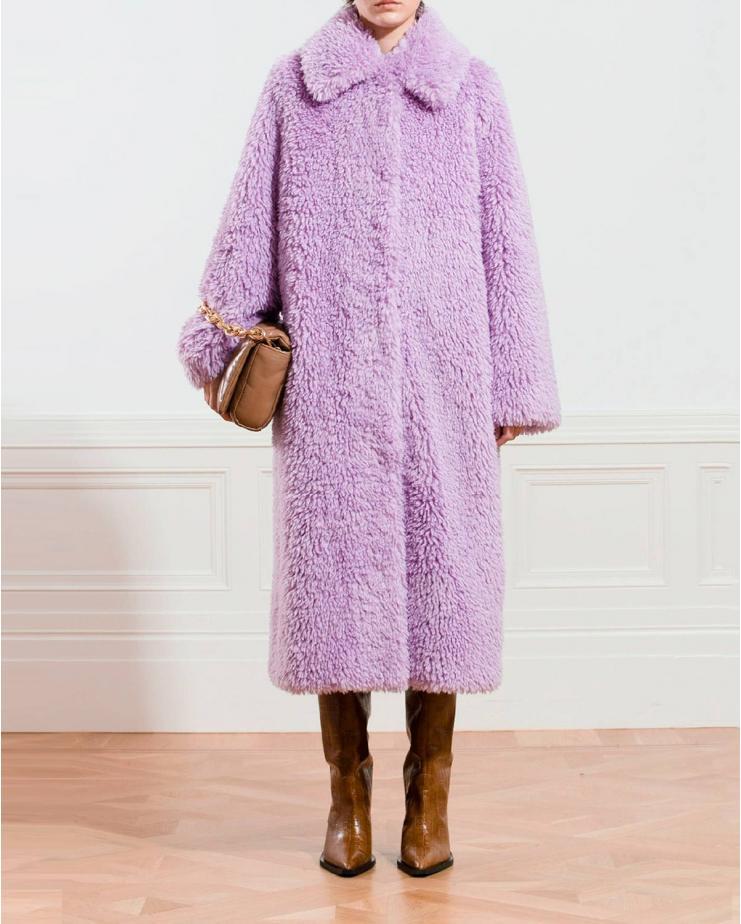 Nino Coat in Powdered Purple