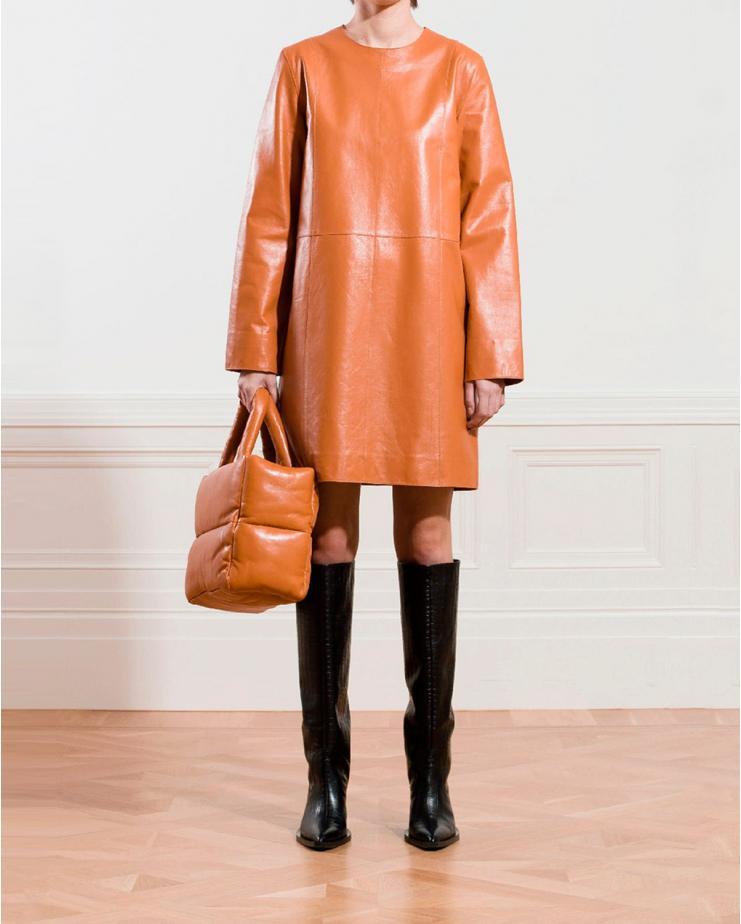 Sierra Leather Dress in...