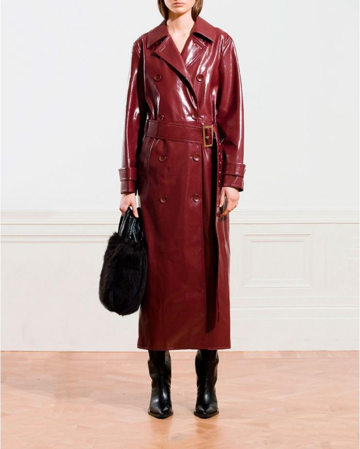 Towa Faux Leather Trench in...