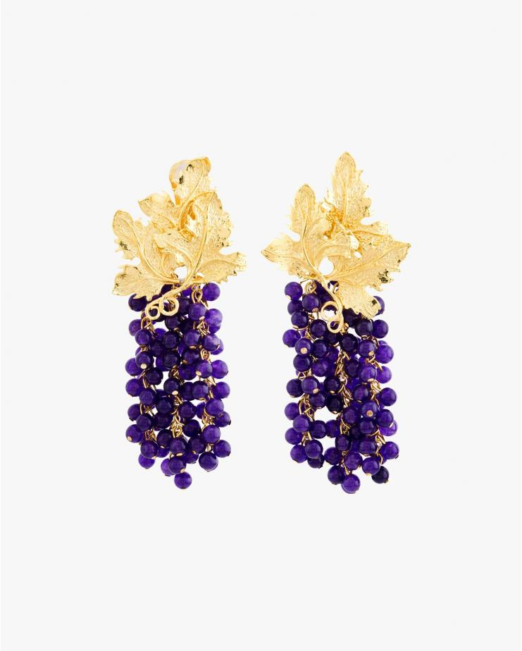 Adile Earrings in Aubergine