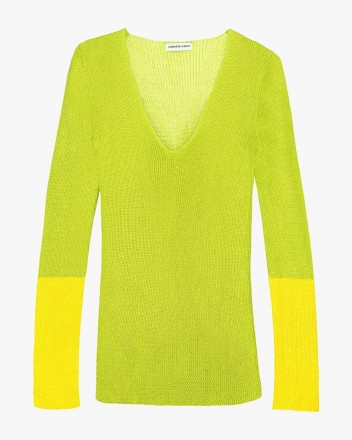 Pitch Blouse in Lime and...