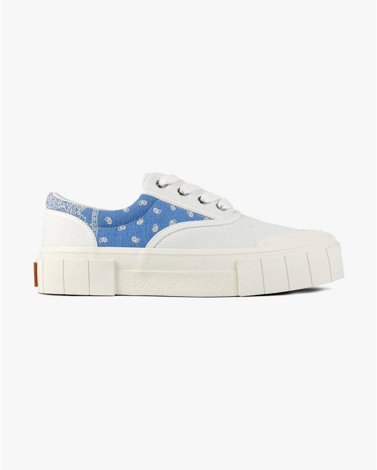Opal Paisley Sneaker in White/Blue