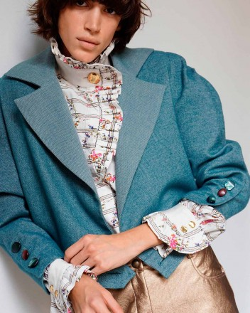 Dixie Spencer Jacket in Acqua