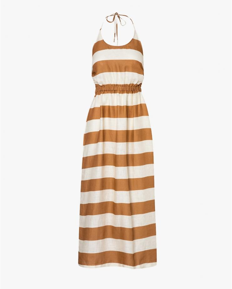 Robyn Dress in Caramelstripe