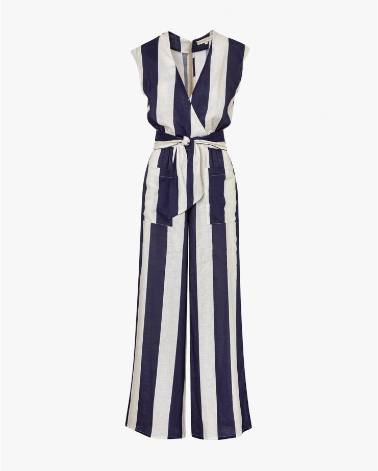 Madeline Jumpsuit Blue Stripes