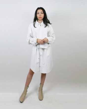 Shirt Dress in White