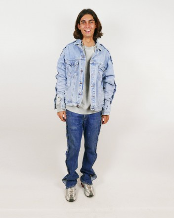 Jeans Jacket With Sleeve...