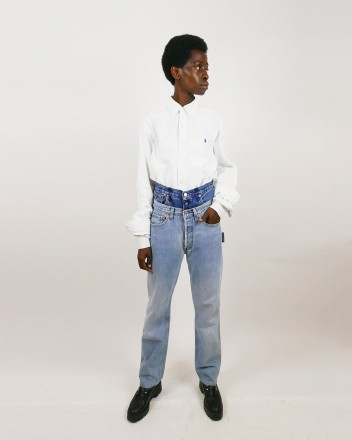 Jeans Double Waist in Light...