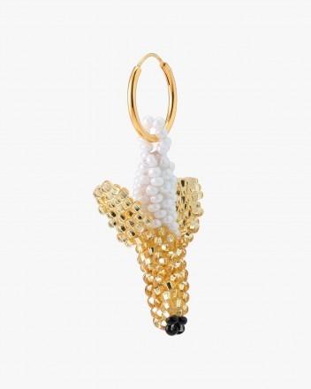 Gold Banana Earring