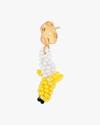 Tiny Gold Blob Banana Earring