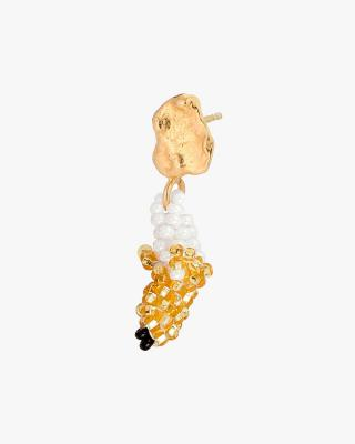Tiny Gold Blob Gold Banana Earring