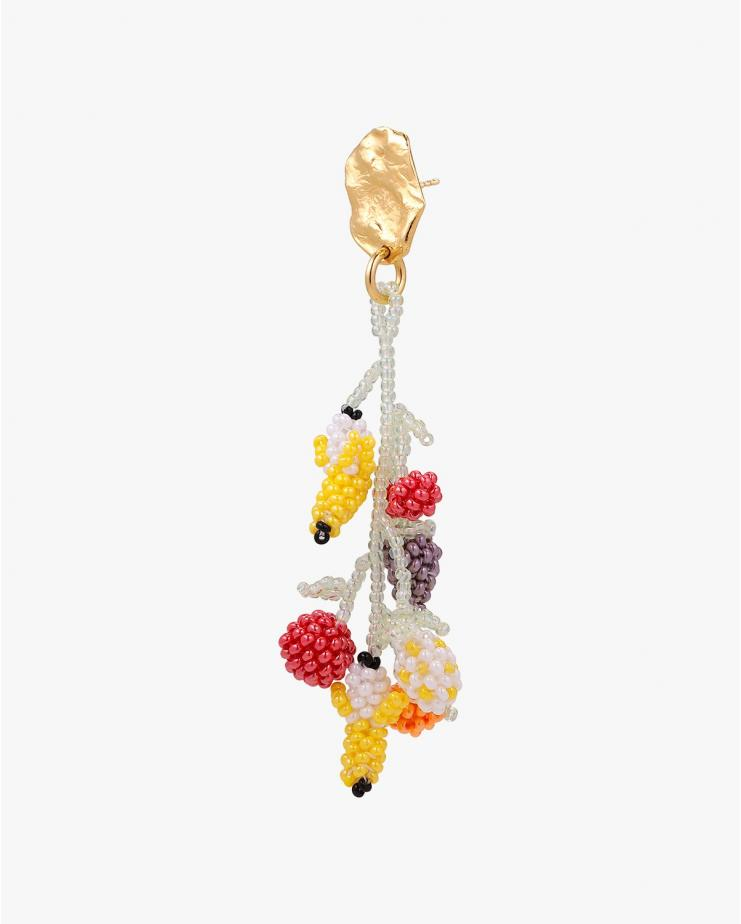Fruit Salad Gold Blob Earring