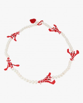 Pearly Lobster Necklace