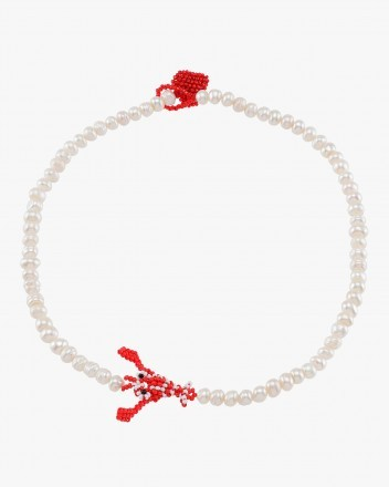 Pearl Lobster Necklace