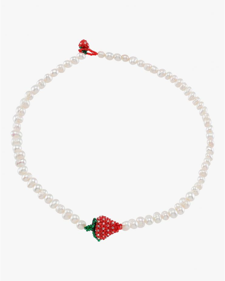 Pearl Strawberry Necklace