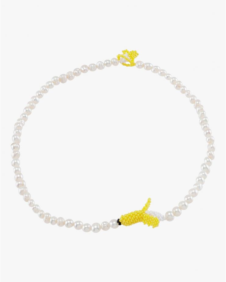 Pearl Banana Necklace