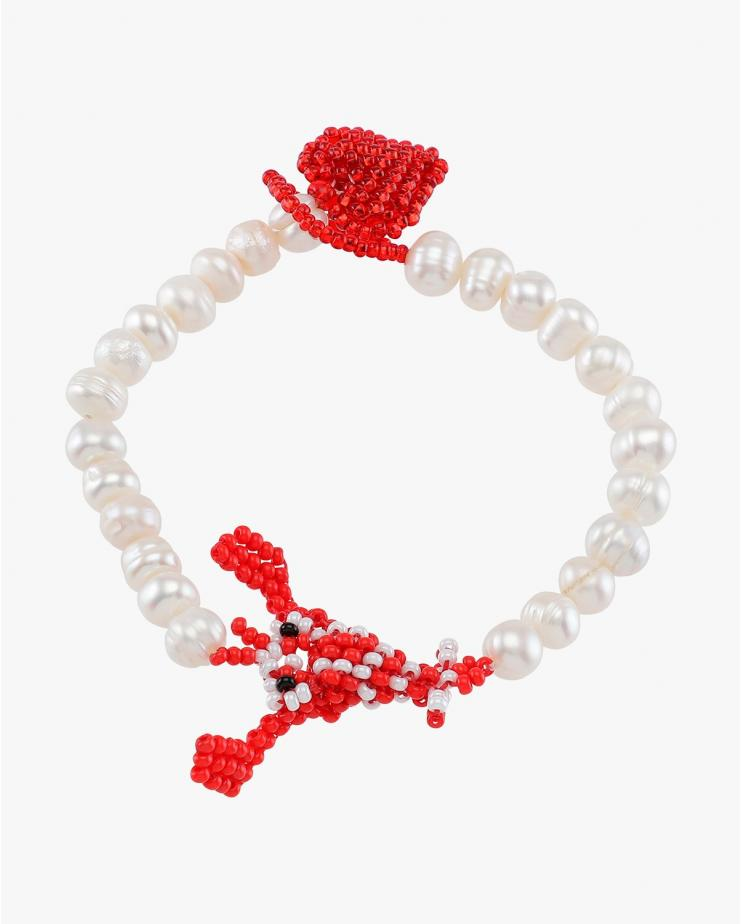 Pearly Lobster Bracelet