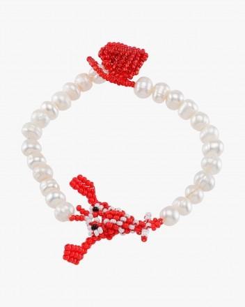 Pearly Lobster Bracelet