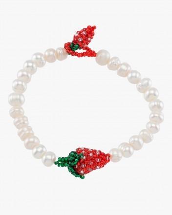 Pearly Strawberry Bracelet