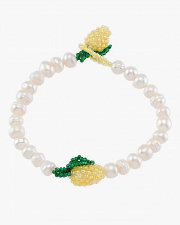 Pearly Lemon Bracelet