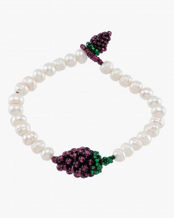 Pearly Grape Bracelet