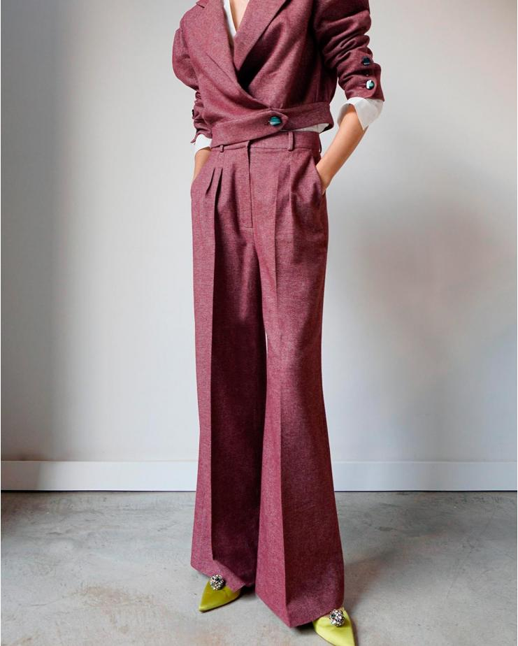 Dixie Pants in Garnet