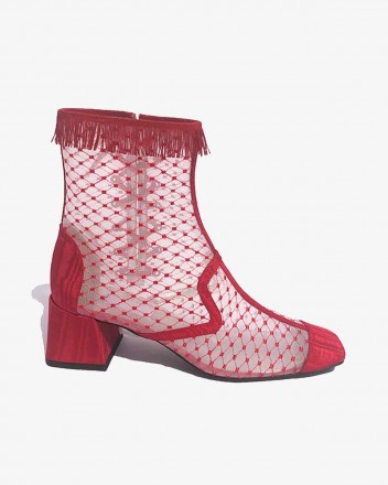 Reseau Lady Boot in Red