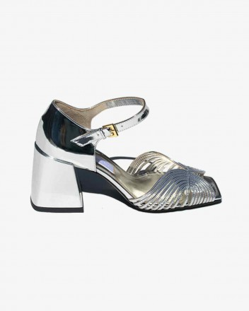High 70s Sandal in Silver