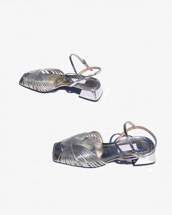 Low 70s Sandal in Silver