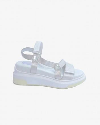Velcro Sandal in White
