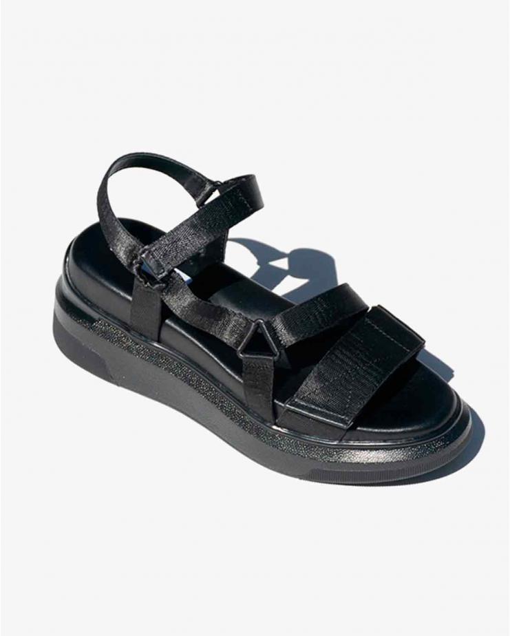Velcro Sandal in Black