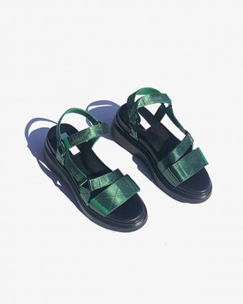 Velcro Sandal in Green