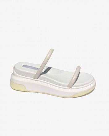 Puffy Ergo Sandal in White