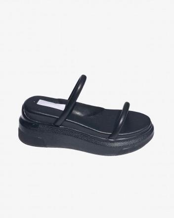 Puffy Ergo Sandal in Black
