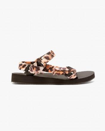 Trekky Leopard Print Sandals