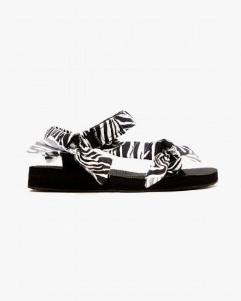 Trekky Zebra Print Sandals
