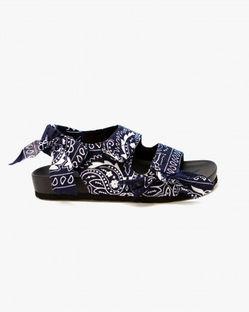 Apache Bandana Sandals in Navy