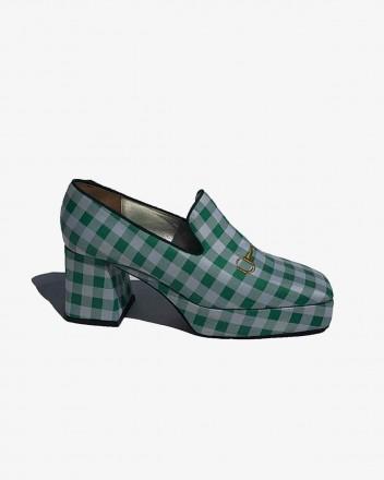 Vichy Platform Loafer in...