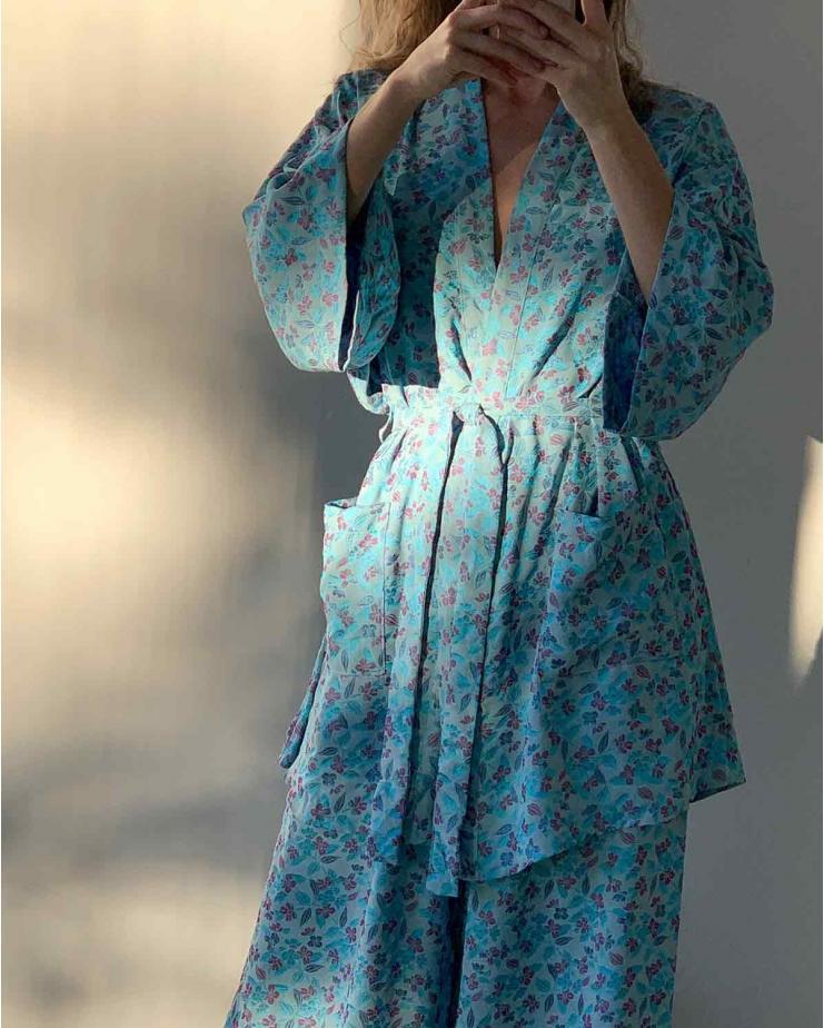 Aiya Silk Kimono