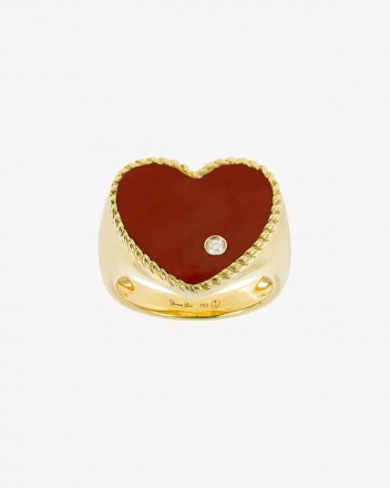 Chevaliere Coeur Ring in Red