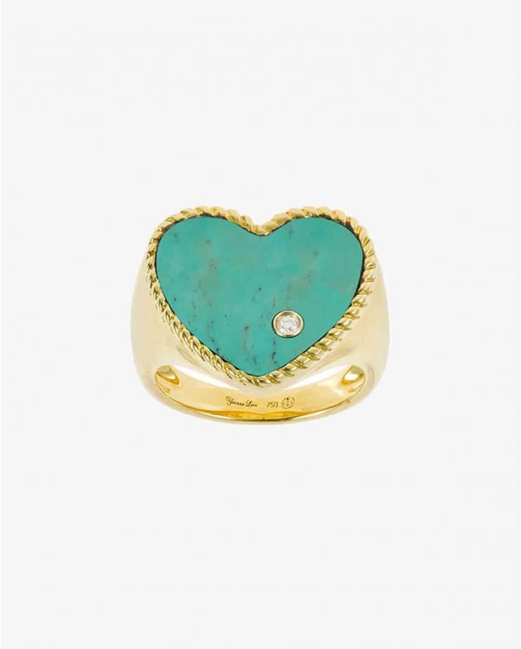 Chevaliere Coeur Ring in Turquoise