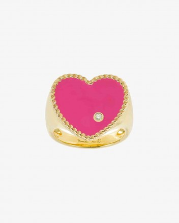 Chevaliere Coeur Ring in Pink