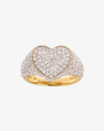 Chevaliere Coeur Ring in...