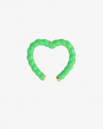 Clip Coeur Earring in Green