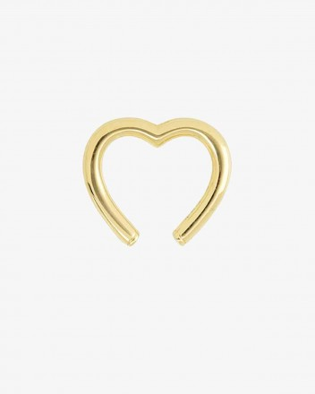 Clip Coeur Earring in Gold