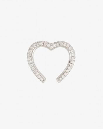 Clip Coeur Earring in Diamond