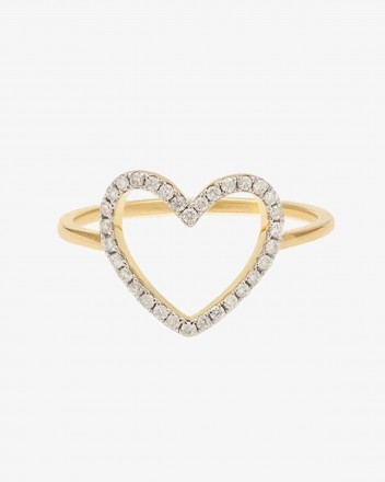 Petit Coeur Ring in Gold